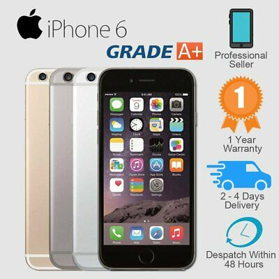 Apple iPhone 6 16GB 64GB 128GB Unlocked Smartphone Plus Gift Grade A-  B  C