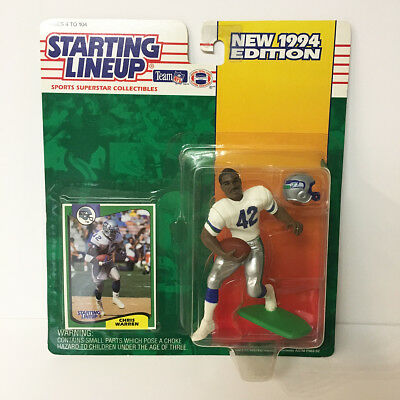 1994 Chris Warren Seattle Seahawks Starting Lineup Figure NFL Kenner NIP NEW