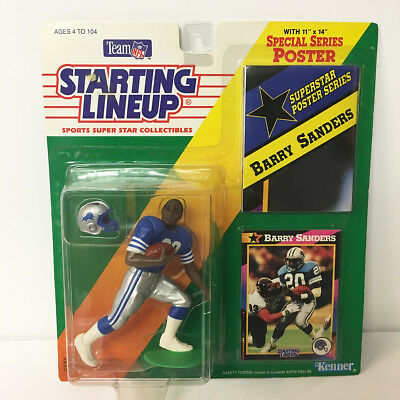 1992 Barry Sanders Starting Lineup Figure NFL Detroit Lions Kenner NIP Unopened