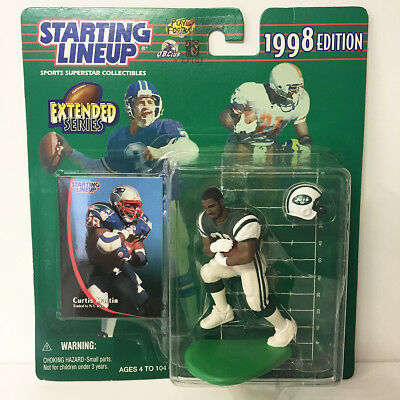 1998 Curtis Martin Starting Lineup Figure NFL Jets Kenner NIP Unopened