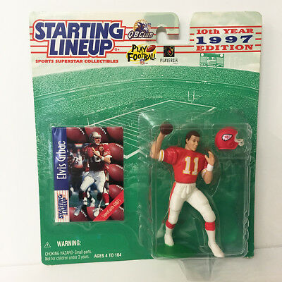 1997 Elvis Grbac Rookie Starting Lineup Figure NFL KC Chiefs Kenner NIP NEW