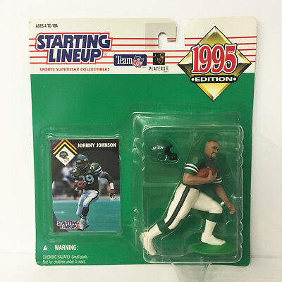 1995 Johnny Johnson Starting Lineup Figure NFL Jets Kenner NIP NEW