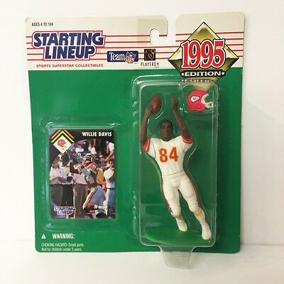 1995 Willie Davis Starting Lineup Figure NFL KC Chiefs Kenner NIP NEW