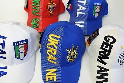 New FIFA Soccer World Cup Embossed Hat Cap Adjustable One Size