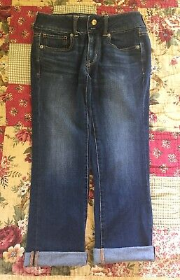 American Eagle Outfitters Super Stretch Jean Capris Size 4 Dark Wash