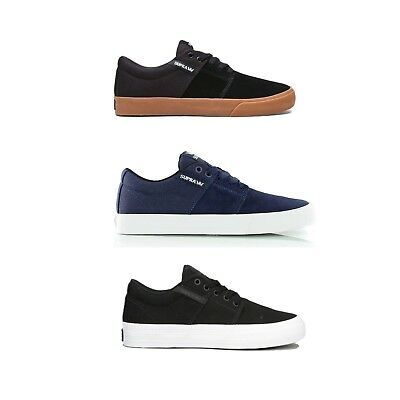 SUPRA Mens Stacks Vulc II Skate Shoes Black-White Navy-White Black-Gum3Colors