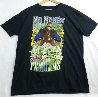 Biggie Smalls Mo Money Mo Problems Notorious BIG Black T-Shirt Size XLARGE XL