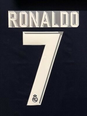 201718 REAL MADRID 7 RONALDO  AWAY NAME SET