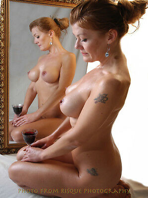 Nude Woman With Wine 8-5x11 Photo Print Naked Female Modern Photography Art