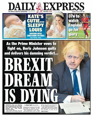 KATE MIDDLETON  PRINCE LOUIE CHRISTENING THE EXPRESS NEWSPAPER July 10 2018
