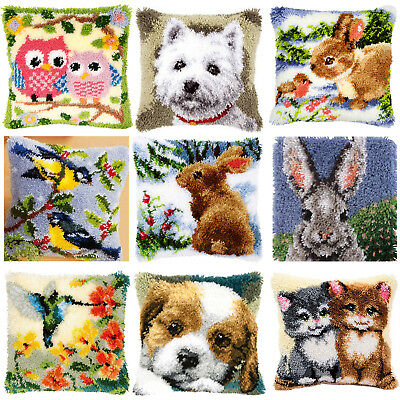 GEX Latch Hook Kits Cushion Cover Craft Needle Embroidery Gifts 16×16