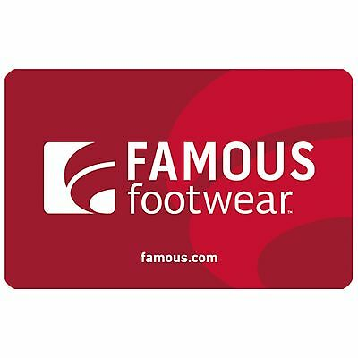 Buy a 50 Famous Footwear Gift Card for only 40 - Fast email delivery