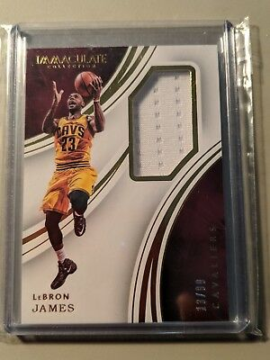 2015-16 Immaculate Collection LeBron James Materials