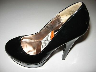 STEVE MADDEN BLACK PATENT SZ Size 7 Shoes STILETTO Platforms High Heels P-SOCAL