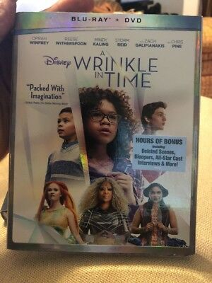 A Wrinkle in Time Brand New Disney Blu-Ray - DVD - SlipCover 2018 Free Ship
