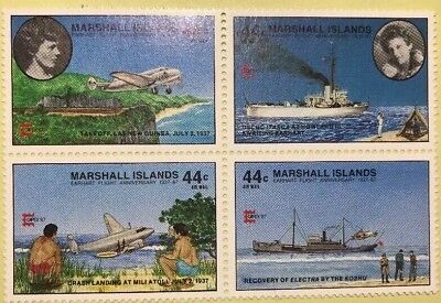 Amelia Earhart Marshall Islands C20a Capex87 Block of 4 Mystery Disappearance
