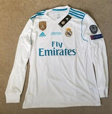 Bale Limited Edition Real Madrid Final Champions League Final Jersey Size-Medium