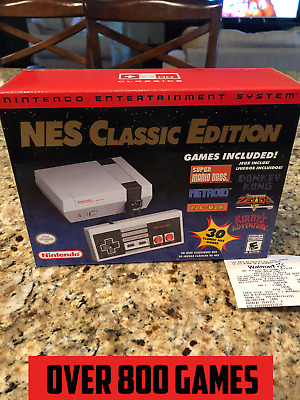 Nintendo NES Classic Edition Mini Console - 800- US Games MODDED