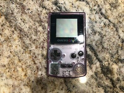 Clear Purple Nintendo Gameboy Color Console - Works Great