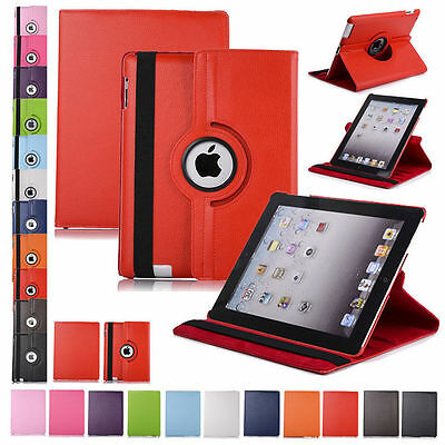 360 Rotating Leather Folio Case Cover Stand for iPad 234 Mini Air 9-7 10-2 10-5