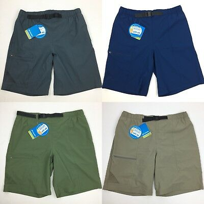 NEW Columbia Mens Omni-Shield Cargo Athletic Active Shorts with Belt Large Med
