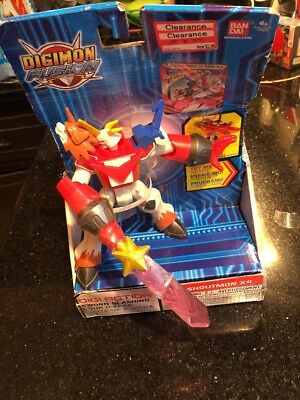 Digimon Fusion Shoutmon X4 Action Figure NEW Wear Dented Box