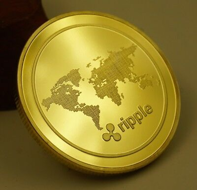 XRP Ripple Cryptocurrency Virtual Currency Gold Plated Coin  BITCOIN