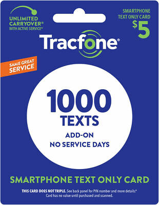 TracFone Smartphone Only Plan - 1000 Add-On Text Only