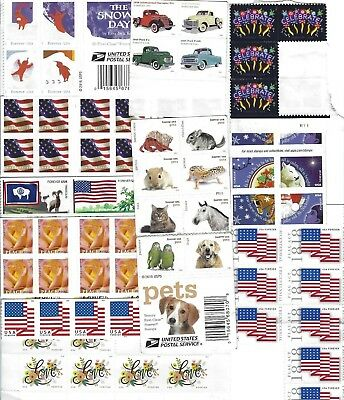 10 USPS Forever Stamps -  Designs vary- Postage For First Class Mail MNH