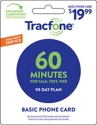Tracfone 60 Minute Plan - 90 Days60 Minutes60 Text60MB Data
