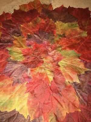 Pier Fall Autumn Maple Leaf Layered Thanksgiving Placemats 17-5 New