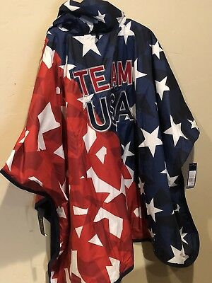 New-2018-Paralympic Team USA Hooded Poncho Ralph Lauren Polo XS  S