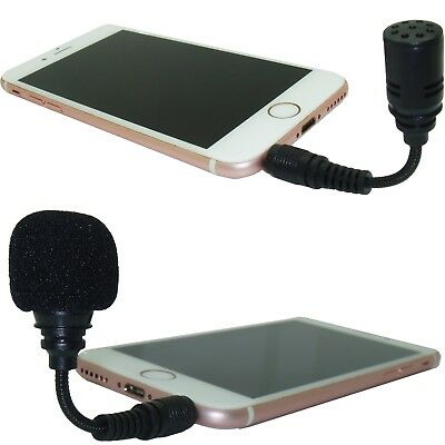 3.5mm TRS TRRS Jack Plug Flexible Mini Microphone for Smartphone Voice Recorder
