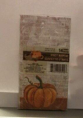 Thanksgiving Guest Napkins Pumpkins - Grateful  14 Count Free Shipping