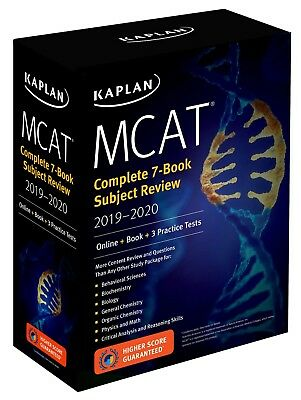 MCAT Complete 7-Book Subject Review 2019-2020 Online - Book - 3 Practice Tests