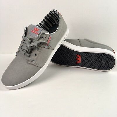 Supra Men's Shoes Sneakers Gray Canvas Size US 14