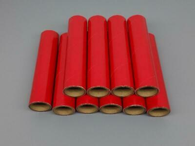 10 NEW FIREWORKS PYRO Gloss Red Heavy Wall Cardboard Tubes 1 x 6 x 18