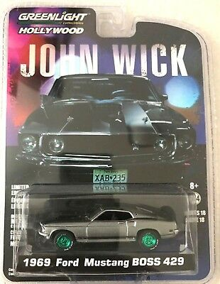 Greenlight Ford Mustang Boss 429 1969 John Wick 44780E 164 Scale CHASE