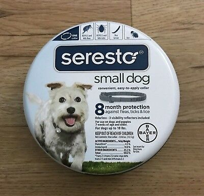 Bayer Seresto 8 Month Flea - Tick Prevention Collar for Small Dogs SEALED