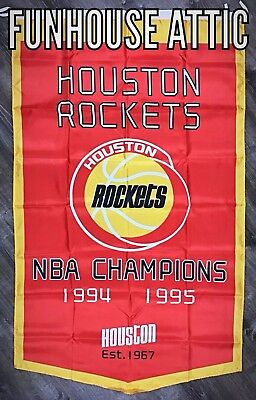 Houston Rockets NBA Championship FLAG 3x5 ft Banner Vertical Man-Cave Bar NEW