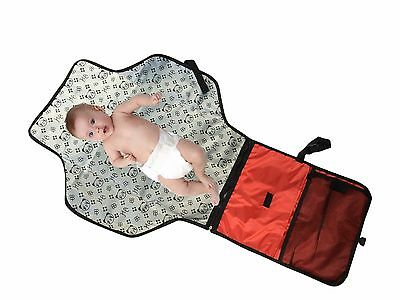 Portable Baby Diaper Changing Pad Mat with built-in Head cushion for Travel Home