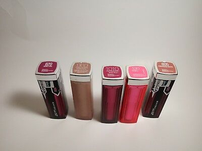 5 Piece Maybelline New York Colorsensational LipstickAssorted colorFull size