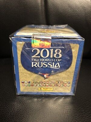 Panini 2018  Russia FIFA World Cup Soccer Stickers 50 Pack Per Box New Sealed