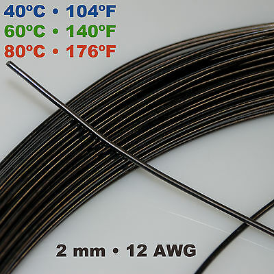 Nitinol NiTi SMA muscle wire 1 - 2 mm 406080º C Shape Memory Alloy by the foot