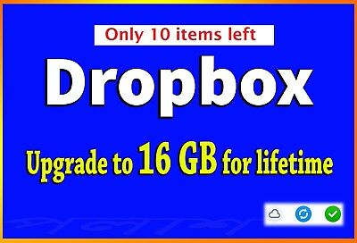 BEST SERVICE - Dropbox upgrade to 16GB lifetime space LOW PRICE-LIMITED OFFER