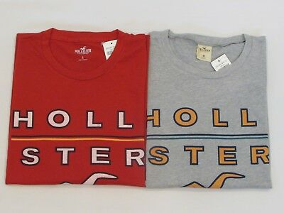 NEW MEN'S HOLLISTER CO- SHORT SLEEVE GRAPHIC T-SHIRT PICK A SIZE AND COLOR