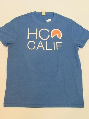NEW MEN'S HOLLISTER CO- SHORT SLEEVE GRAPHIC T-SHIRT HEATHER BLUE SIZE LARGE
