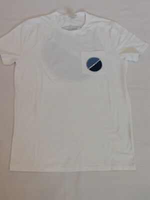 NEW MEN'S HOLLISTER CO- SHORT SLEEVE GRAPHIC POCKET T-SHIRT WHITE SIZE SMALL