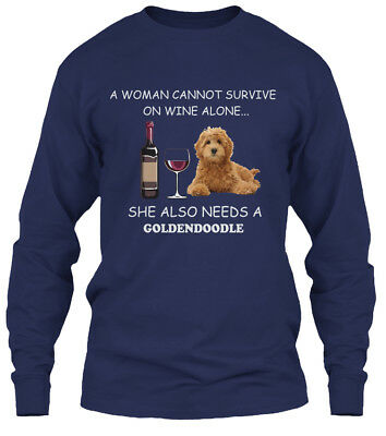 Latest Goldendoodle Lover Gift - A Woman Cannot Gildan Long Sleeve Tee T-Shirt