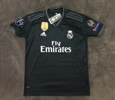 Toni Kroos Real Madrid Brand New Men's Away Black Soccer Jersey - Size M
